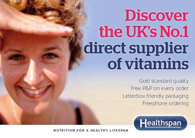 Discover                       the UK's No.1                     direct supplier                        of vitamins       ...