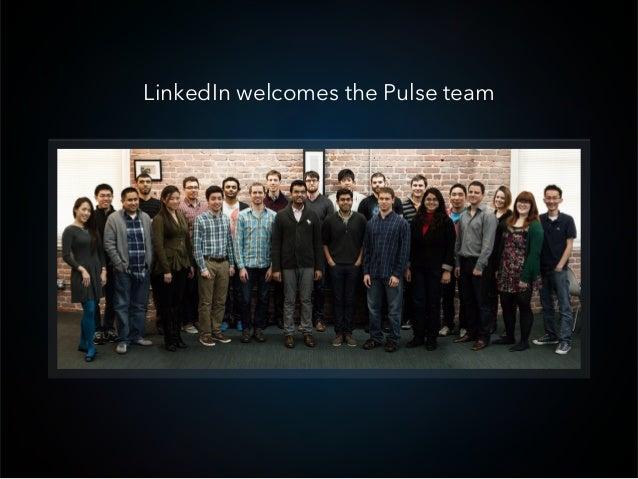 LinkedIn welcomes the Pulse team
