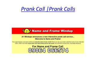 Prank Call Numbers UK
