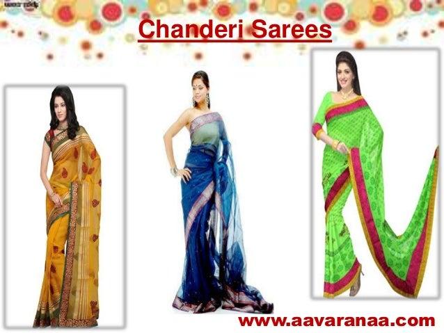 61fdf2d3bc ... www.aavaranaa.com Chanderi Sarees ...