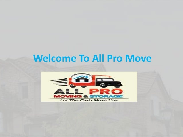 Welcome To All Pro Move