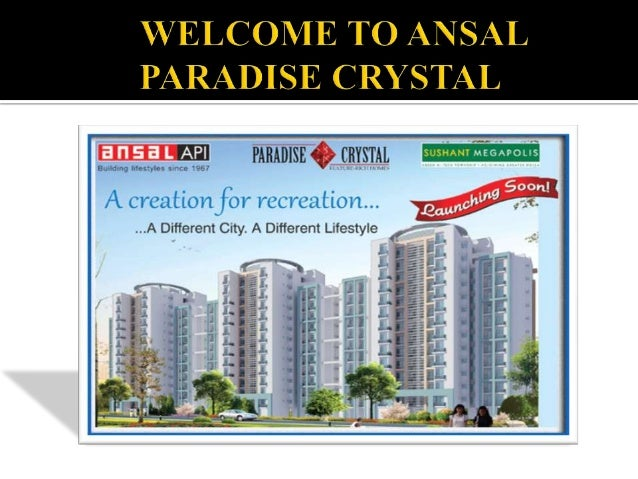Ansal Paradise Crystal is located at Greater Noida .  For more details please visit here: http://www.affinityconsultant.co...