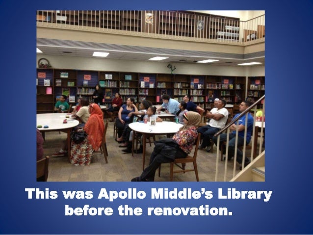 This was Apollo Middle's Library  before the renovation.