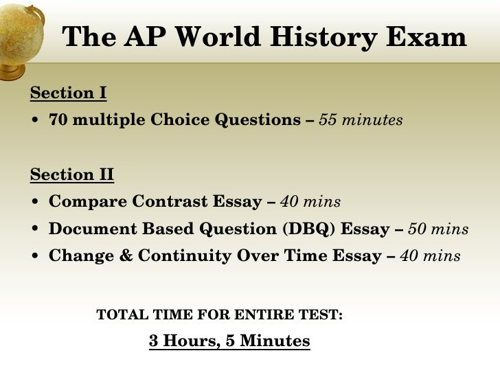 2010 ap world history essay question Strategies for mastering the persuasive essay ap language  our understanding of the world  an essay 2009: support your argument with appropriate.