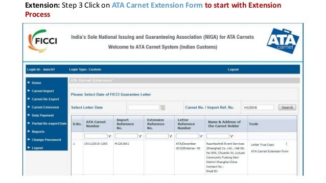 Welcome to ata carnet system indian customs