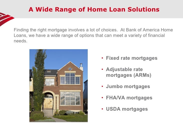 FHA and VA Loans from Bank of America