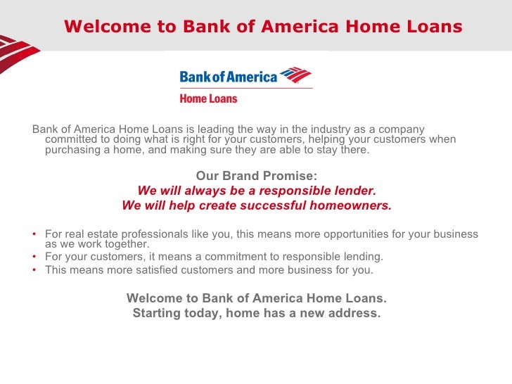 bank of america home loans credit requirements