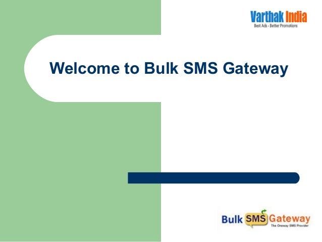 Welcome to Bulk SMS Gateway