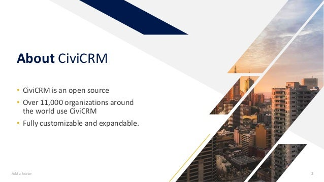 Welcome to civi crm Slide 2