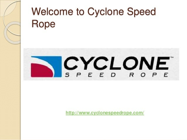 Welcome to Cyclone Speed Rope http://www.cyclonespeedrope.com/