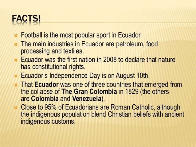 the culture and government of ecuador Learn more about the ecuador economy, including the population of ecuador, gdp, facts, trade, business, inflation and other data and analysis on its economy from the index of economic freedom .