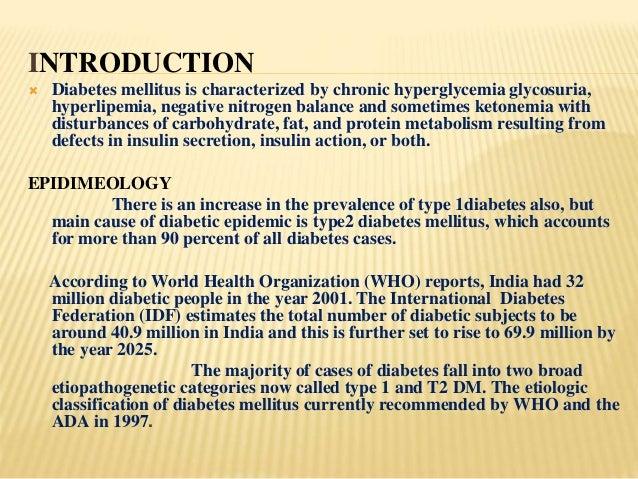 The History of Diabetes Mellitus