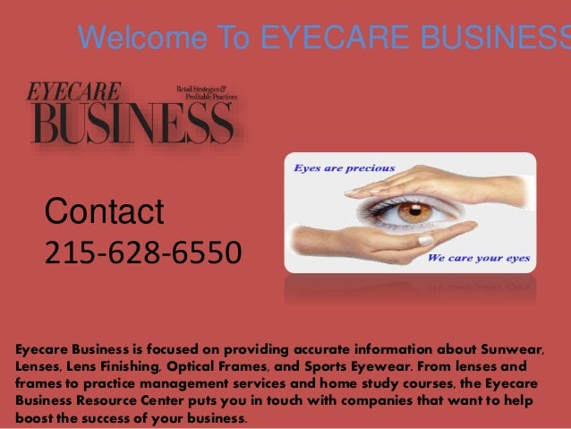 4939c69dffce Welcome To EYECARE BUSINESS Eyecare Business is focused on providing  accurate information about Sunwear