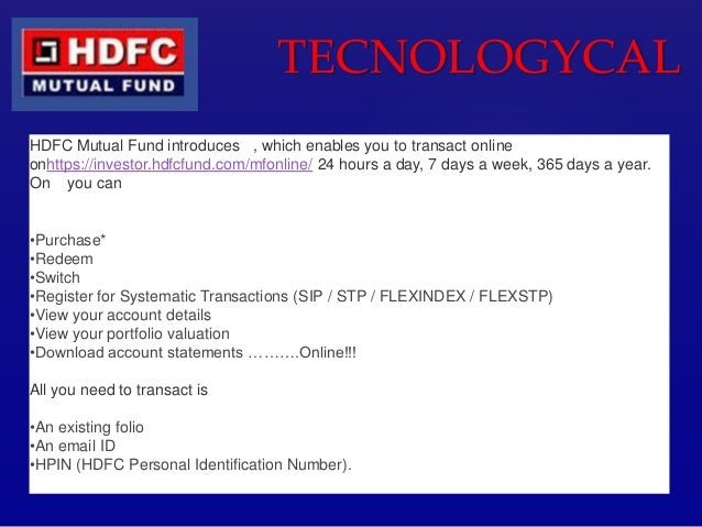 how to get hdfc mutual fund statement online