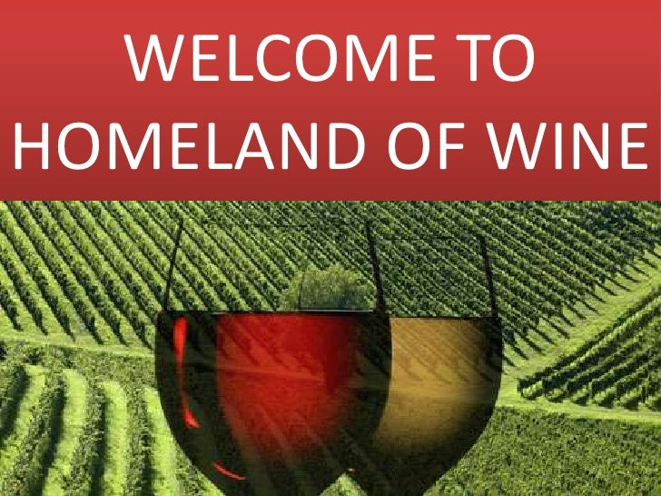 WELCOME TO HOMELAND OF WINE<br />