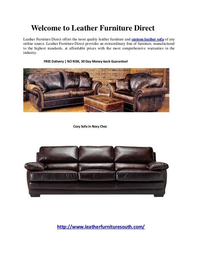Custom Leather Sofas - Leather Furniture Direct