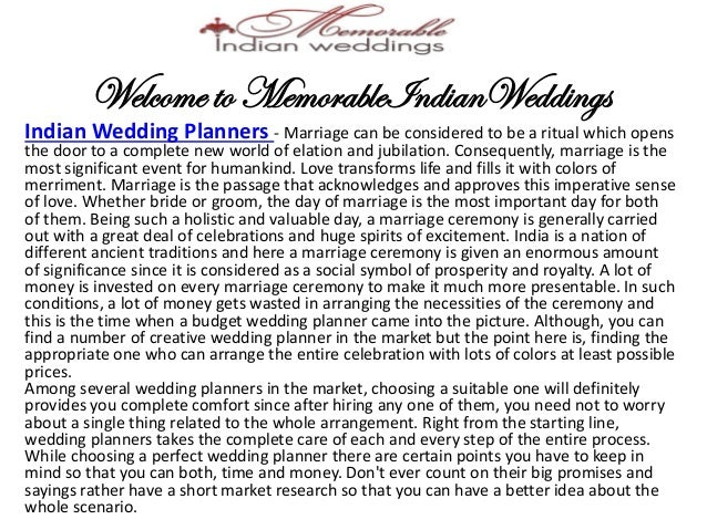 Memorable wedding essay