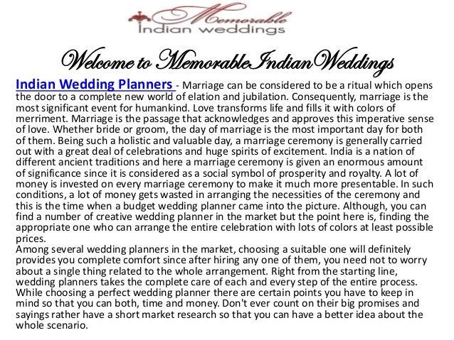 Memorable wedding essay