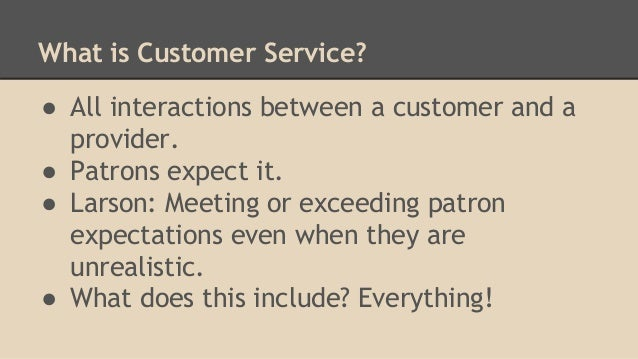 what does customer service include