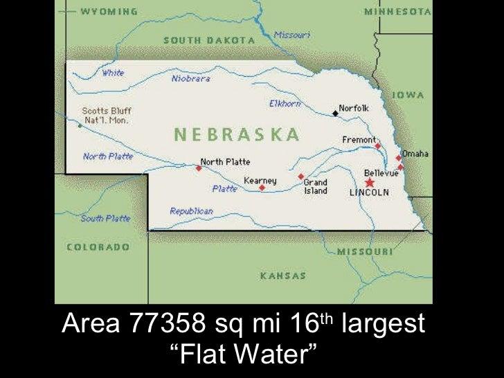 """Area 77358 sq mi 16 th  largest """"Flat Water"""""""
