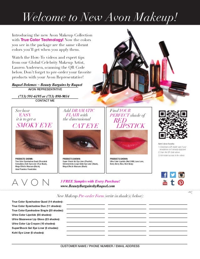Introducing the new Avon Makeup Collection with True Color Technology! Now the colors you see in the package are the same ...