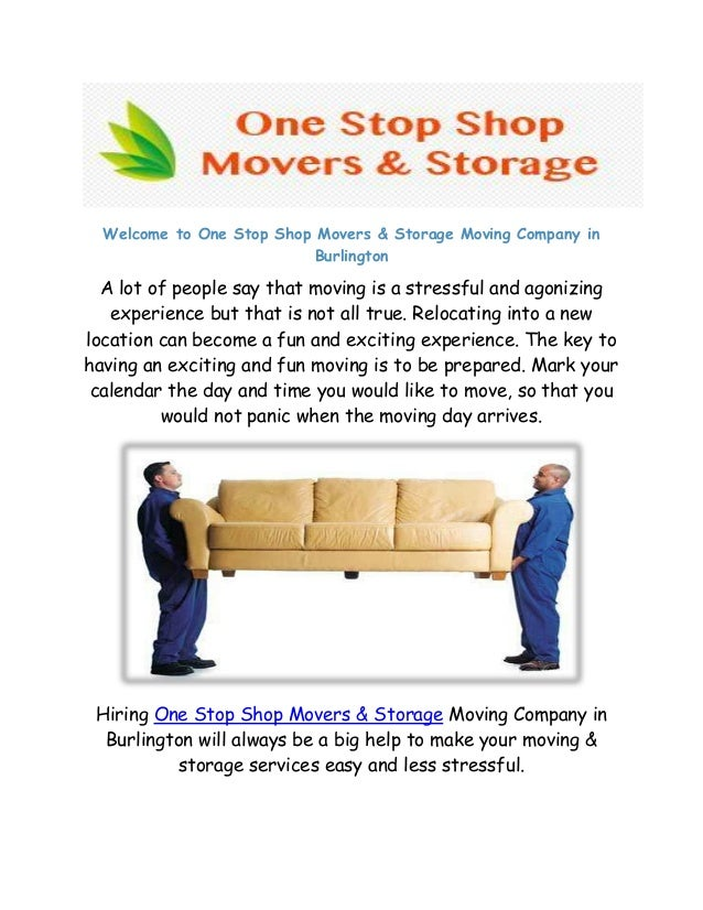 Welcome To One Stop Shop Movers U0026 Storage Moving Company In Burlington A  Lot Of People ...