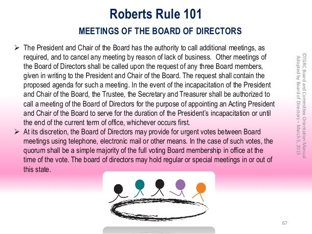 board of directors policy and procedures manual