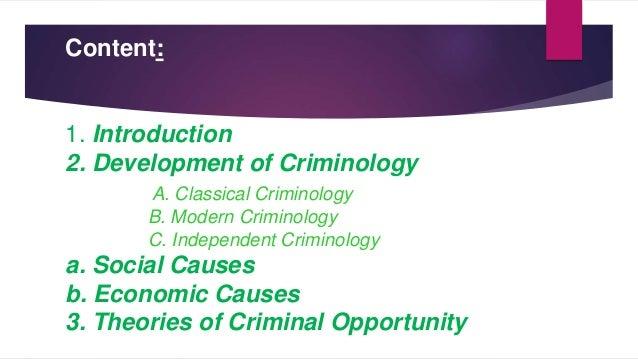 schools of criminology notes