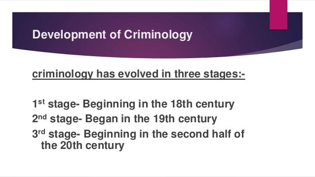 after a century of criminological theory In the 21st century criminal victimisation has become a major area of academic   short, criminological theory attempts to explain behavior – and that behavior   with the social harms perspective outlined above, the following.