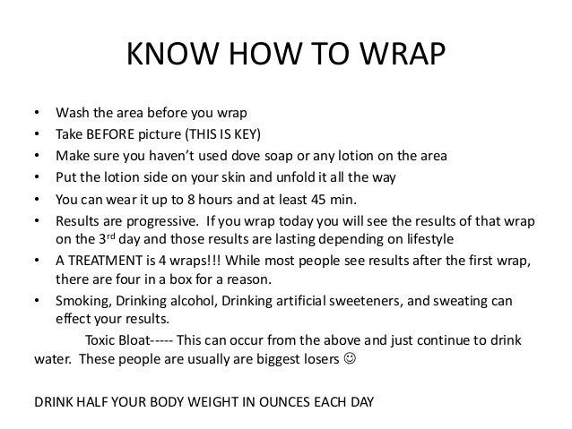 Wrap Instructions It Works Ceriunicaasl