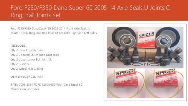 Dana 60 Rebuild Kit & Parts Online - Parts Gnome