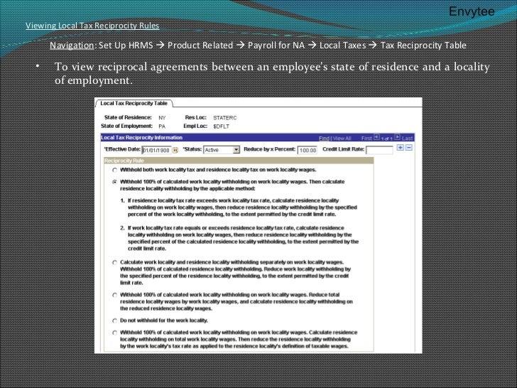 state reciprocity payroll taxes