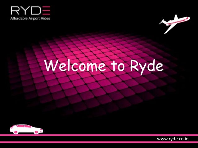 Welcome to Ryde www.ryde.co.in