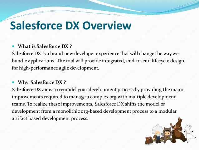 Key feature of Salesforce DX  Scratch Orgs  Source Sync  Salesforce Command Line Interface  Test Runner  Continuous I...