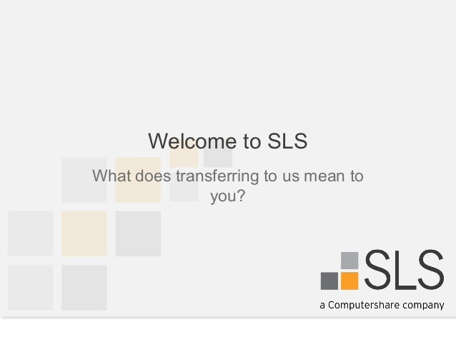 Welcome to Specialized Loan Servicing (SLS)