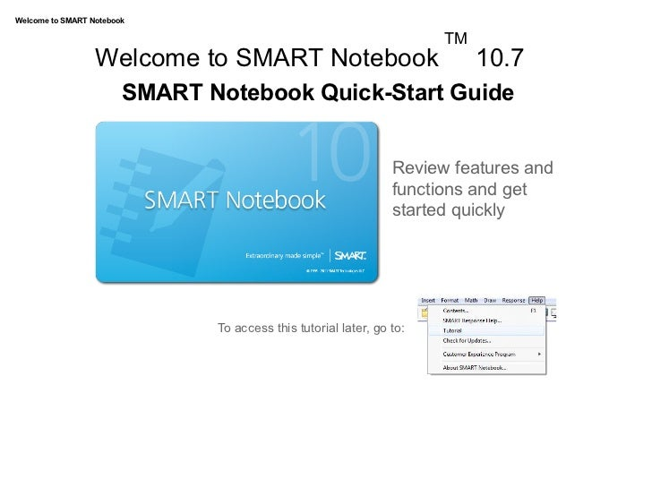 Welcome to SMART Notebook                                                                            TM                  W...