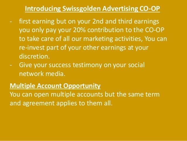 Welcome To Swissgolden Advertising Co Op