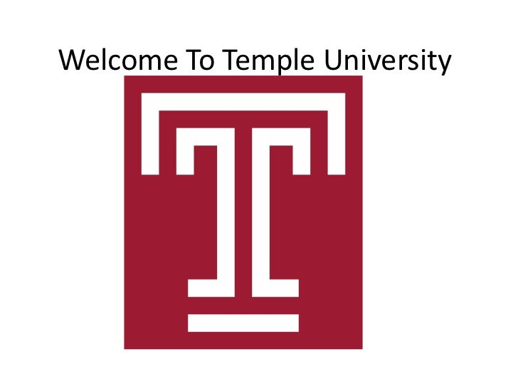 Welcome To Temple University<br />