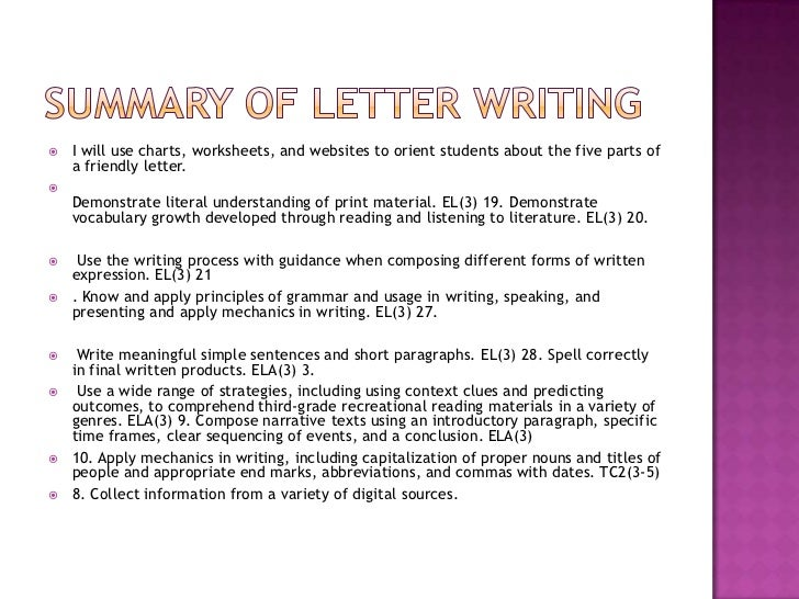 Teach Write A Letter Rd Grade
