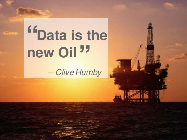 """""""Data is the new Oil """" – Clive Humby"""