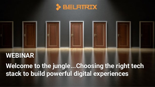 Welcome to the jungle...Choosing the right tech stack to build powerful digital experiences WEBINAR