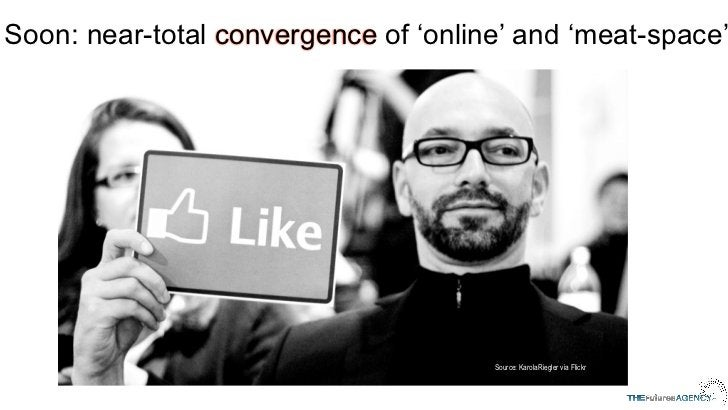 Soon: near-total convergence of 'online' and 'meat-space'                                      Source: KarolaRiegler via F...