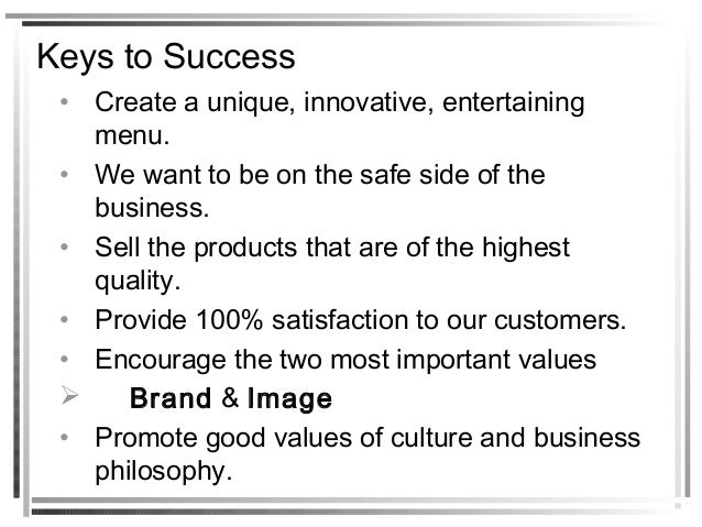 small fast food business plan pdf