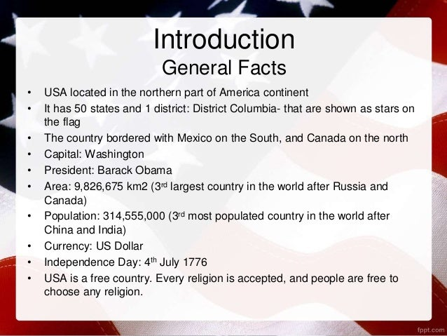 Welcome to the usa for Interesting facts of usa