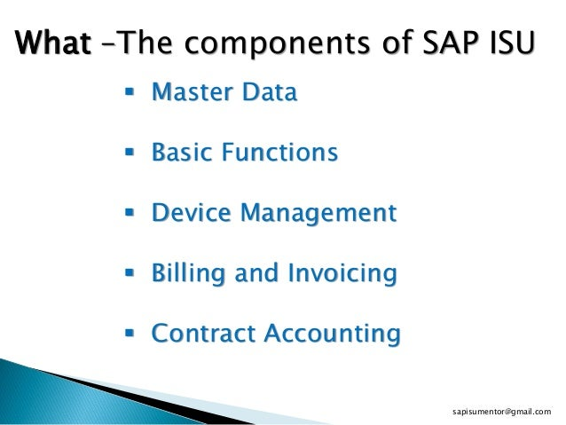 SAP ISU Training