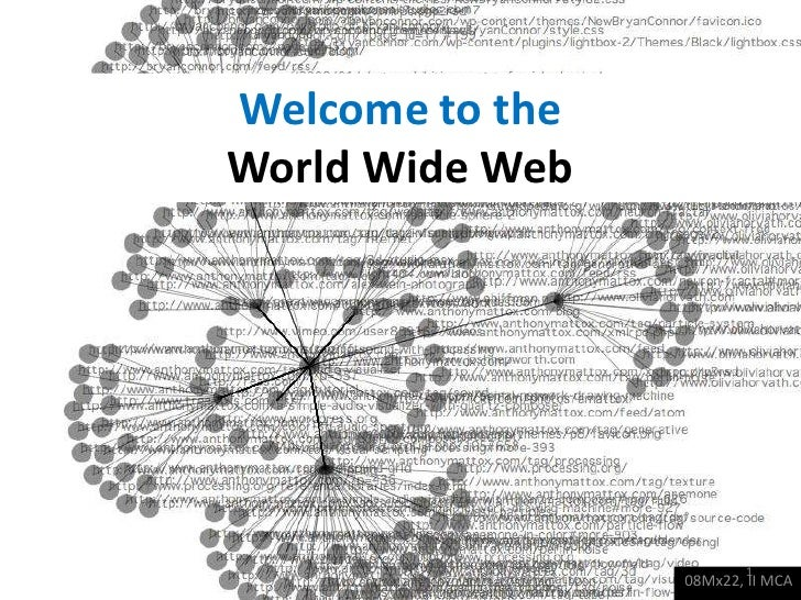 Welcome to theWorld Wide Web<br />08Mx22, II MCA<br />1<br />