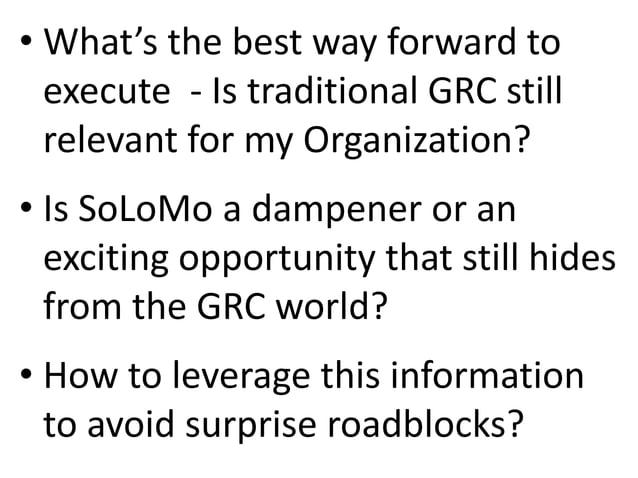 Bhavesh Bhagat Keynote at #GRC13.