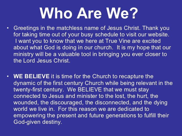 welcome to true vine church fixed