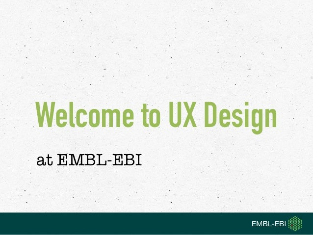 Welcome to UX Design 