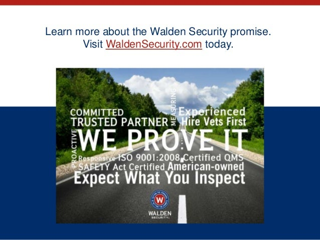 Welcome to walden security